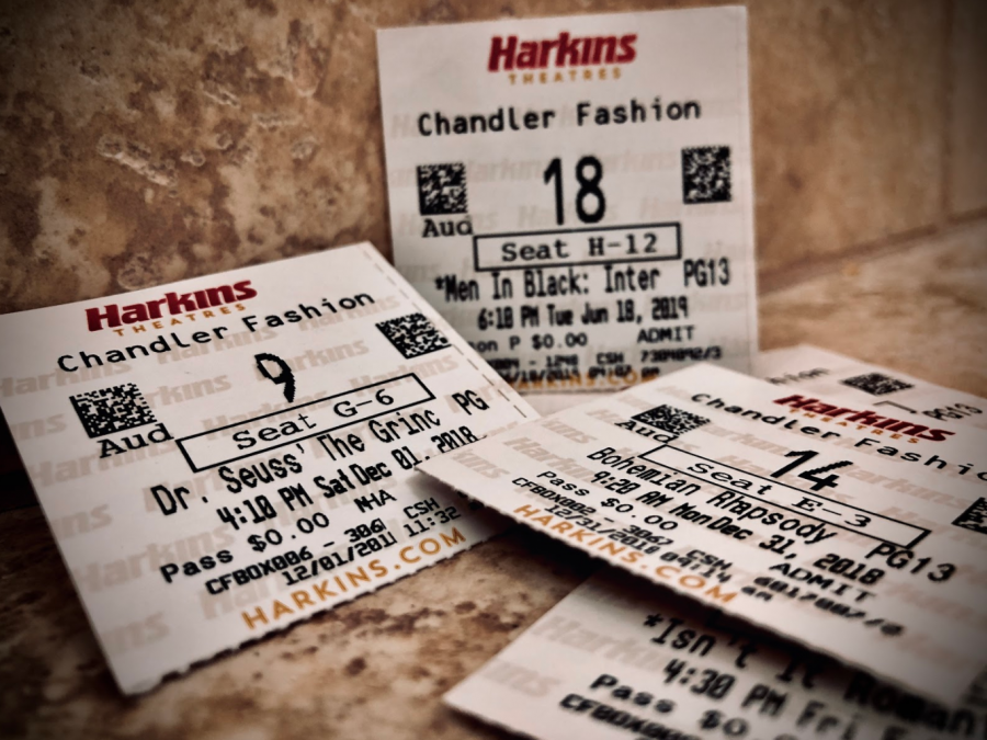 These are some of the tickets collected by Senior Emma McCarthy. Ticket stubs have been used for years in theaters, however we are starting to see the downfall of physical tickets and movies.