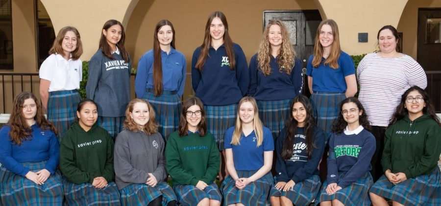 Ms.+Dani+Richter+comes+together+with+some+of+the+Mock+Trial+students+on+picture+day.+This+is+a+time+for+the+Mock+Trial+program+as+a+whole+to+come+and+be+together+for+a+practice.+