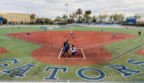 Xavier College Prep's varsity softball team plays against Basha on Xavier's Petznick Field on March 23.