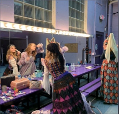One of the XCP National Youth Award winners gets ready behind the scenes for her debut as Esmeralda Smythe.