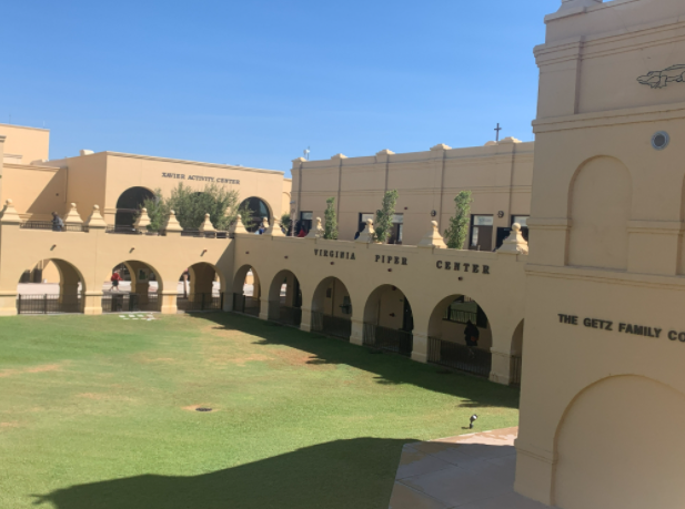 Xaviers+campus+on+a+tranquil+Monday+afternoon.+Depicting+the+beauty+of+the+architecture+in+the+school+and+some+classrooms+on+campus%2C+Xavier+is+as+welcoming+as+Jesus.+