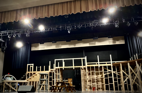 """The set for the Xavier/Brophy fall musical, """"Grease,"""" is undergoing the construction process. Rehearsals began at the end of August and cast members, crew members and directors are excited to share the production with the Xavier/Brophy community starting on October 20."""