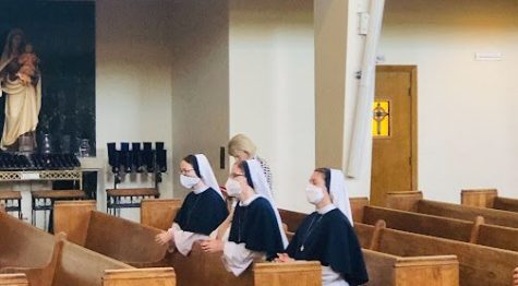 The Sisters of Life enjoy Mass on Saturday, October 2 at St. Agnes Church. They are part of the new pro-Life ministry in the diocese and just arrived in the valley.