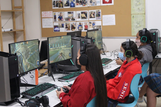 The Rocket League team plays its first game of the season against Horizon High School. Although they lost, players overcame first-game jitters.
